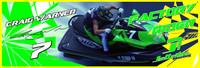 Craig Warner Banner 3'x9' PWC Jetski Ride & Race Jet Ski Display