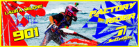 Laura Milone Banner 3'x9' PWC Jetski Ride & Race Jet Ski Display