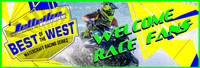 Welcome Racers and Fans Banner 3' X 9' PWC Jetski Ride & Race