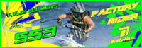 Kylie Elmers Banner 3'x9' PWC Jetski Ride & Race Jet Ski Display