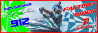 Rick Sherker Banner 3'x9' PWC Jetski Ride & Race Jet Ski Display
