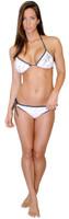 Hash Bikini Triangle Top - White PWC Swimwear