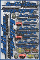 "Decal Jettribe Racing 12""x18"" Sheet Blue PWC Jetski Ride & Race"