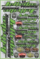 "Decal Jettribe Racing 12""x18"" Sheet Green PWC Jetski Ride & Race"
