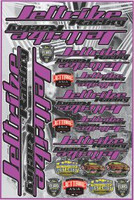 "Decal Jettribe Racing 12""x18"" Sheet Pink PWC Jetski Ride & Race"