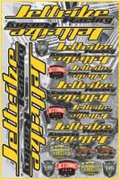 "Decal Jettribe Racing 12""x18"" Sheet Yellow PWC Jetski Ride & Race"