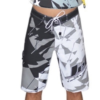 Shattered Men's Board Shorts Grey PWC Jetski Ride & Race Apparel