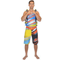 Scratch Men's Board Shorts Orange PWC Jetski Ride & Race