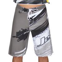 Ripped Men's Board Shorts - Grey PWC Jetski Ride & Race Apparel