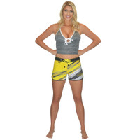Ripped Ladies Board Shorts Yellow PWC Jetski Ride & Race Apparel