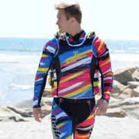 UR-20 Scratch Side Entry Race Vest Yellow PWC Jetski
