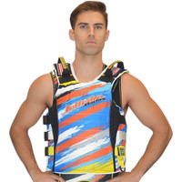 UR-20 Scratch Side Entry Race Vest (S/M Only) Orange  PWC Jetski Ride & Race