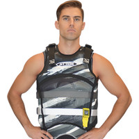 "Sentinel ""Scratch"" Vest Grey Jet Ski Ride & Race Jetski Gear-New Lower Price"