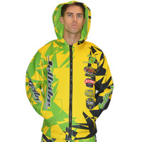 Tour Coat Shattered Moto Tour Jacket Yellow PWC Jetski Ride & Race