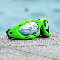 Classic Green Neon Frame/Smoke Lens Goggles PWC (Pre-Order)