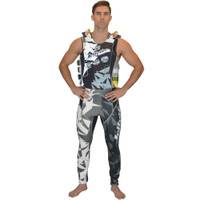 U.S.C.G. Shattered Side-Entry Vest Grey PWC Jetski Ride & Race
