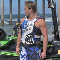 USCG Shattered Blue Side-Entry Vest PWC Jetski Ride & Race