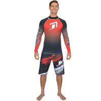 Longsleeve Classic Rashguard Red PWC Jetski Ride & Race Apparel