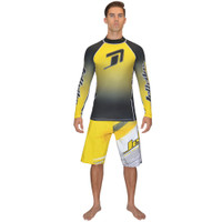 Longsleeve Classic Rashguard Yellow PWC Jetski Ride & Race Apparel
