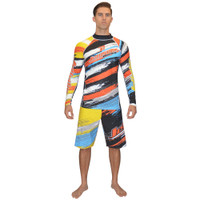 Longsleeve Scratch Rashguard Orange PWC Jetski Ride & Race Apparel