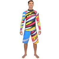 Longsleeve Scratch Rashguard Yellow PWC Jetski Ride & Race Apparel