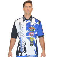 Men's Pit Shirt Shattered Blue PWC Jetski Ride & Race Apparel