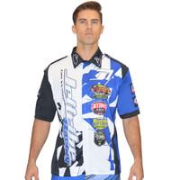 Men's Pit Shirt Shattered Blue PWC Jetski Ride & Race Apparel