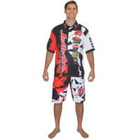 Men's Pit Shirt Shattered Red PWC Jetski Ride & Race Apparel