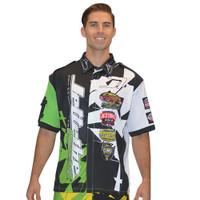 Men's Pit Shirt Shattered Green PWC Jetski Ride & Race Apparel