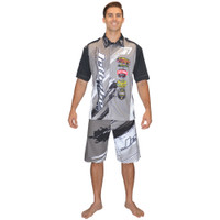 Men's Pit Shirt Ripped Grey PWC Jetski Ride & Race Apparel