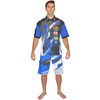 Men's Pit Shirt Ripped Blue PWC Jetski Ride & Race Apparel