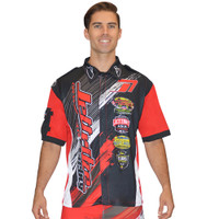Men's Pit Shirt Ripped Red PWC Jetski Ride & Race Apparel