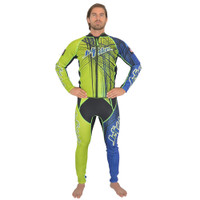 Spike Wetsuit Blue/Green PWC Jet Ski Ride & Race Freestyle