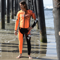 Spike Wetsuit Neon Orange PWC Jet Ski Ride & Race Freestyle