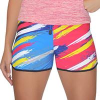 Scratch Ladies Board Shorts Yellow Multi PWC Jetski Ride & Race