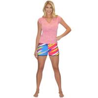 Ladies Shorts - Scratch - Yellow Multi