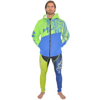 Tour Coat Spike Moto Tour Jacket Green/Blue PWC Jetski Ride & Race