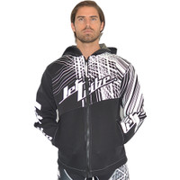 Tour Coat Spike - Black / White PWC Jetski Ride & Race Gear