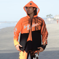 Tour Coat Spike - Neon Orange PWC Jetski Ride & Race Gear