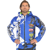 Tour Coat Shattered Moto Tour Jacket Blue PWC Jetski Ride & Race