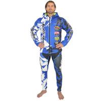 Tour Coat Shattered Moto Tour Jacket Blue PWC Jetski Ride & Race