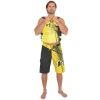 Spike Men's Board Shorts Yellow PWC Jetski Ride & Race Apparel