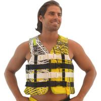 U.S.C.G  Civilian Vest Nylon - Yellow PWC Jetski Ride & Race Gear