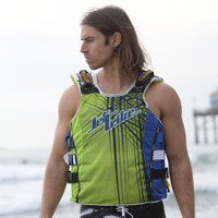 UR-20 Spike Vest - Blue / Green PWC Jetski Ride & Race Gear