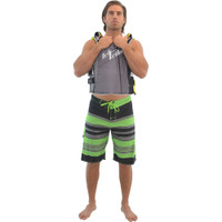 Men's Body Beach Shorts - Black / Green PWC Jetski Ride Apparel