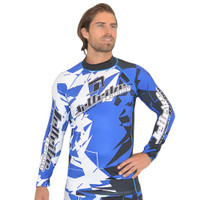 Longsleeve Rashguard Shattered - Blue PWC Jetski Ride & Race Apparel