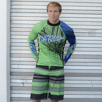 Rashguard Spike - Blue/Green PWC Jetski (Clearance)