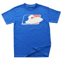 Sit Down League T-Shirt Blue PWC Jetski Ride & Race Apparel