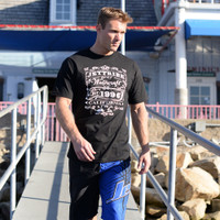 Men's Saloon Black  T-Shirt PWC Jetski Ride & Race Apparel