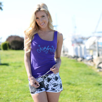 Kurlz Tank - Purple PWC Jetski Ride & Race Apparel